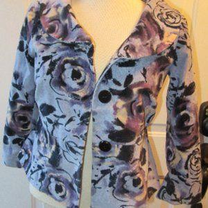Anthropologie Odille Floral Jacket Size 2